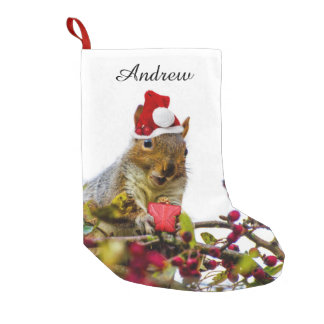 Bas personnalisé par écureuil de Noël Petite Chaussette De Noël