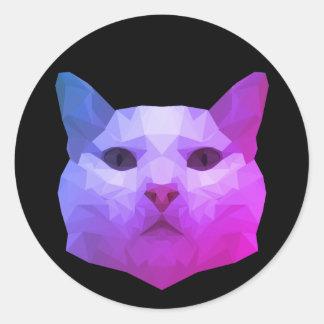 Bas poly autocollant de chat