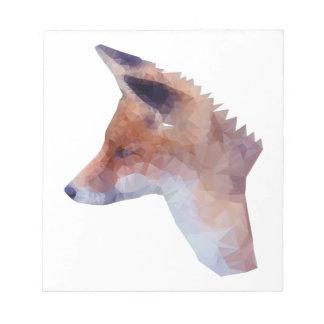 Bas poly Fox Bloc-note