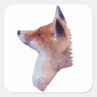 Bas poly Fox Sticker Carré