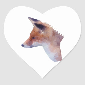 Bas poly Fox Sticker Cœur