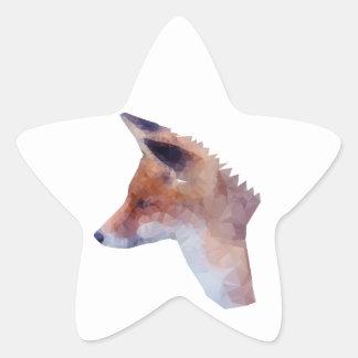Bas poly Fox Sticker Étoile