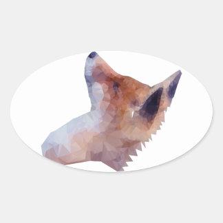 Bas poly Fox Sticker Ovale