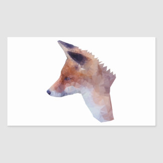 Bas poly Fox Sticker Rectangulaire