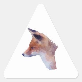 Bas poly Fox Sticker Triangulaire