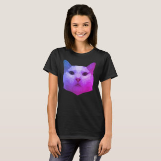 Bas poly T-shirt de chat