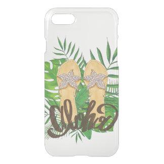 Bascule électronique tropicale hawaïenne claire coque iPhone 7
