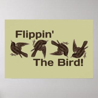Basculement de l'oiseau posters