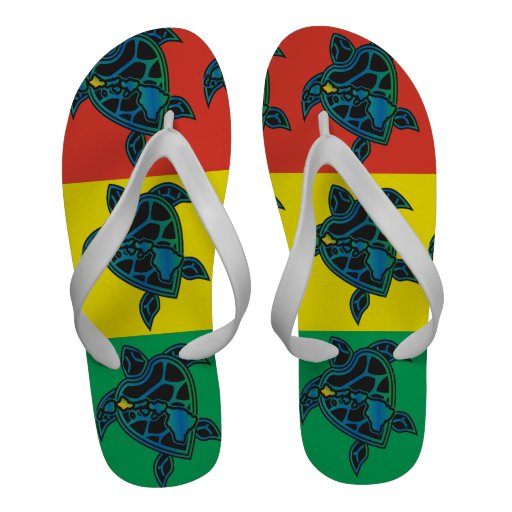 Bascules électroniques de tortue de reggae d'Hawaï Flip Flops