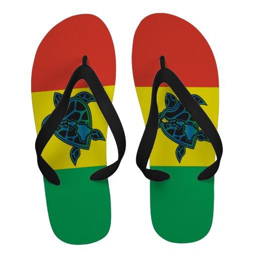 Bascules électroniques de tortue de reggae d'Hawaï Chaussures D'été