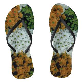 Bascules électroniques : Pantoufles florales Tongs