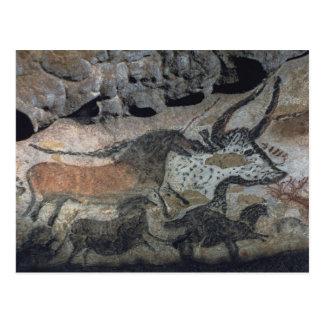 Basculez la peinture d'un taureau et des chevaux, carte postale