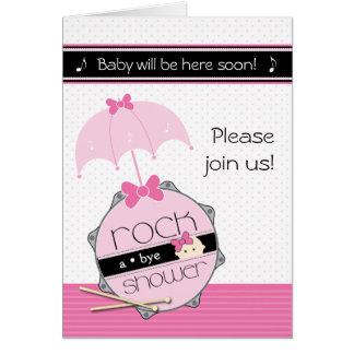 Basculez une invitation secondaire de baby shower cartes de vœux