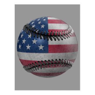 Base-ball américain carte postale