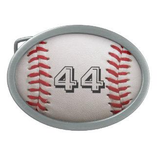 Base-ball avec le nombre personnalisé boucle de ceinture ovale