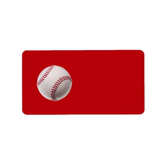 Base-ball - base-ball de modèle de sports sur le étiquette d'adresse