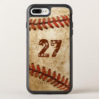 Base-ball grunge personnalisé avec votre nombre coque otterbox symmetry pour iPhone 7 plus