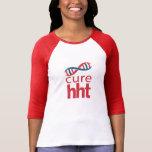 Base-ball Jersey de dames du traitement HHT T-shirt