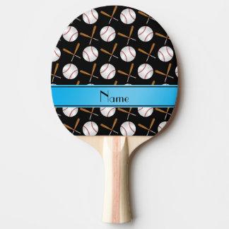 Base-ball noirs nommés personnalisés de battes en raquette tennis de table