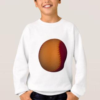 Base-ball orange et rouge foncé sweatshirt
