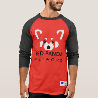 Base-ball rouge T de panda rouge T-shirt