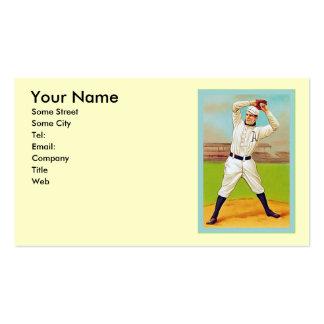 Base-ball vintage modèle de carte de visite
