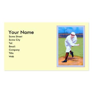 Base-ball vintage cartes de visite personnelles