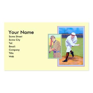 Base-ball vintage cartes de visite professionnelles