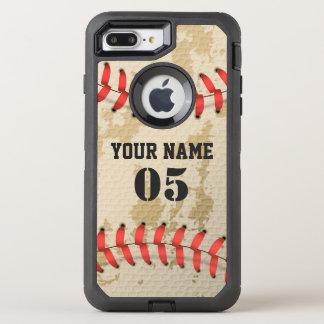 Base-ball vintage frais clair coque otterbox defender pour iPhone 7 plus