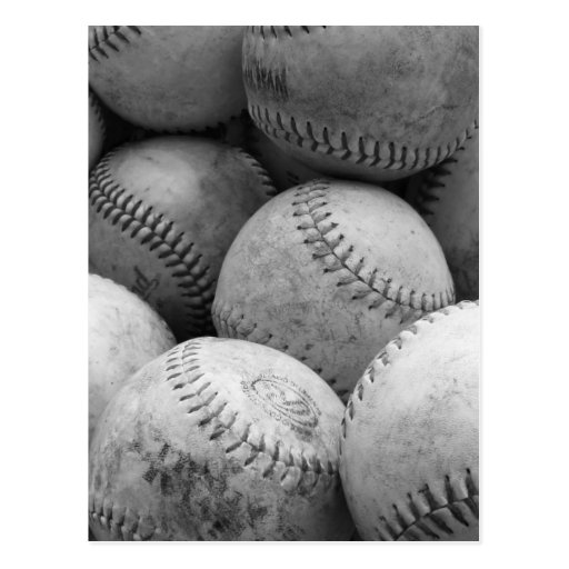 Base-ball vintages en noir et blanc cartes postales