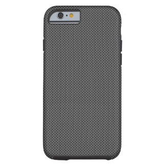 Base noire de fibre de carbone coque iPhone 6 tough