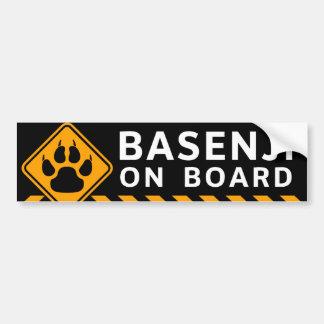 Basenji à bord autocollant de voiture