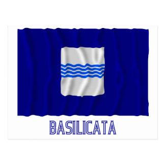 Basilicate ondulant le drapeau avec le nom cartes postales