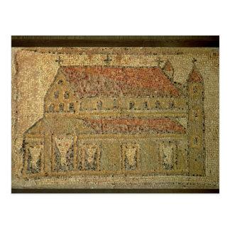 Basilique chrétienne, trottoir de mosaïque, carte postale