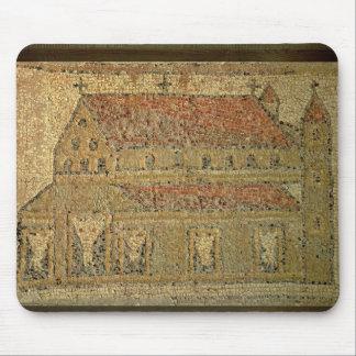 Basilique chrétienne, trottoir de mosaïque, périod tapis de souris