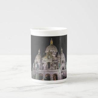 Basilique du Sacré Cœur, Paris la nuit Mug En Porcelaine