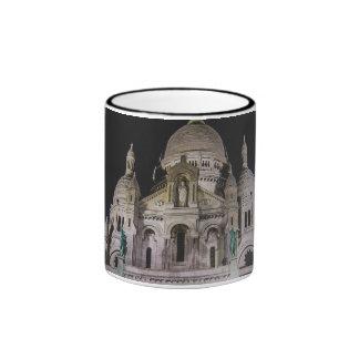 Basilique du Sacré Cœur, Paris la nuit Mug Ringer