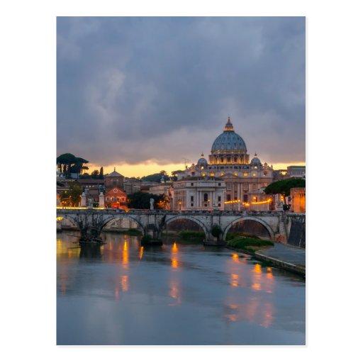 Basilique Rome Italie de St Peter de pont de Sant' Carte Postale