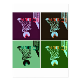 Basket-ball d'art de bruit carte postale