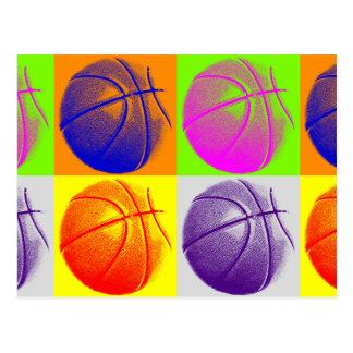 Basket-ball d'art de bruit de 4 couleurs cartes postales