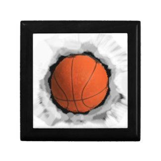 Basket-ball de filles petite boîte à bijoux carrée