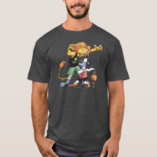 Basket-ball de lion et de moutons t-shirt
