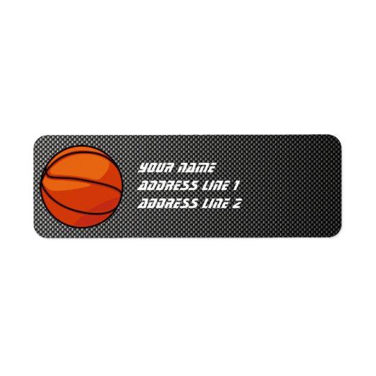 Basket-ball de regard de fibre de carbone étiquettes d'adresse retour