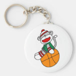 Basket-ball de singe de chaussette porte-clef