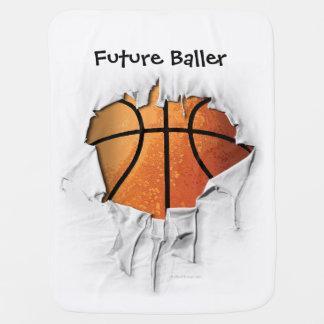 Basket-ball déchiré couverture de bébé