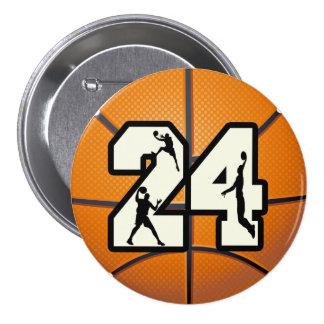 Basket-ball du numéro 24 badges