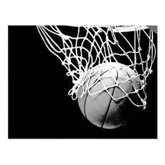 Basket-ball en cartes postales de verticale de