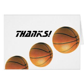Basket-ball-Mercis ! Carte De Correspondance