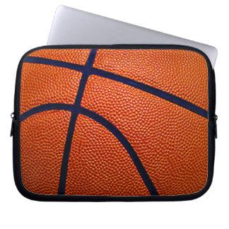 Basket-ball orange et noir housse ordinateur