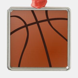 Basket-ball orange ornement carré argenté